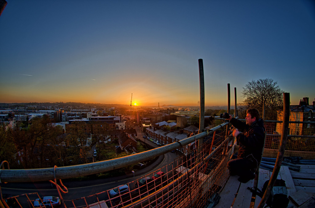 2013.04.28 - Sunrise on Scaffolding - HDR-03