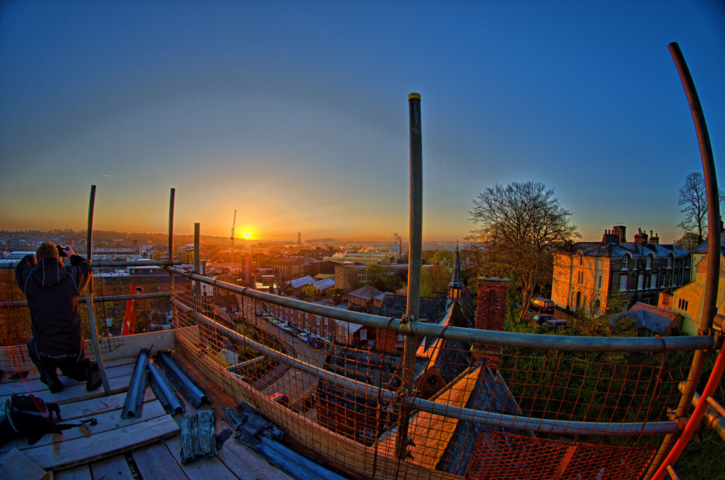 2013.04.28 - Sunrise on Scaffolding - HDR-06