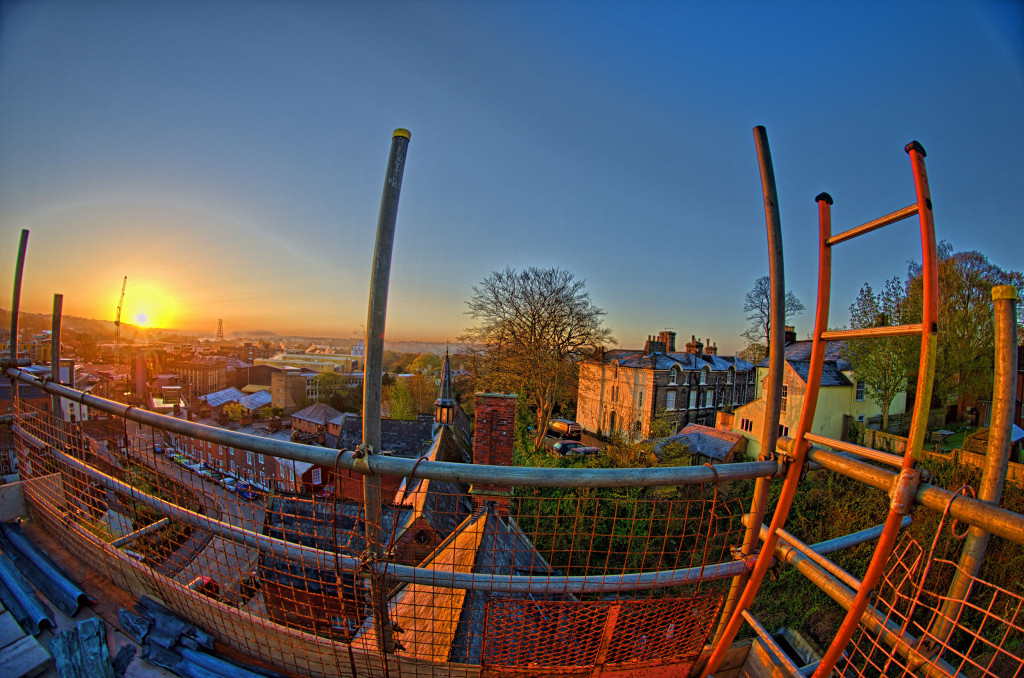 2013.04.28 - Sunrise on Scaffolding - HDR-07
