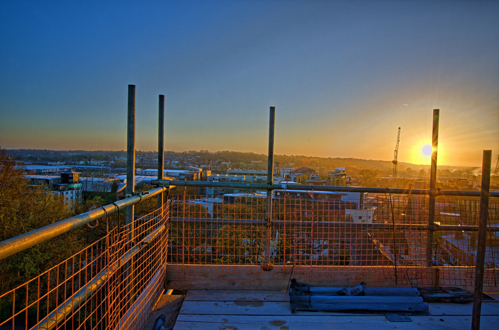 2013.04.28 - Sunrise on Scaffolding - HDR-17