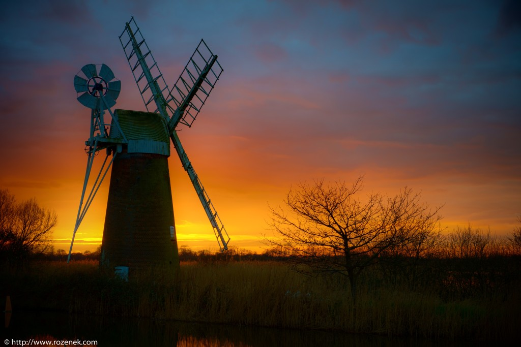 2014.03.04 - Turf Fen Mill at Sunset - 01 - full