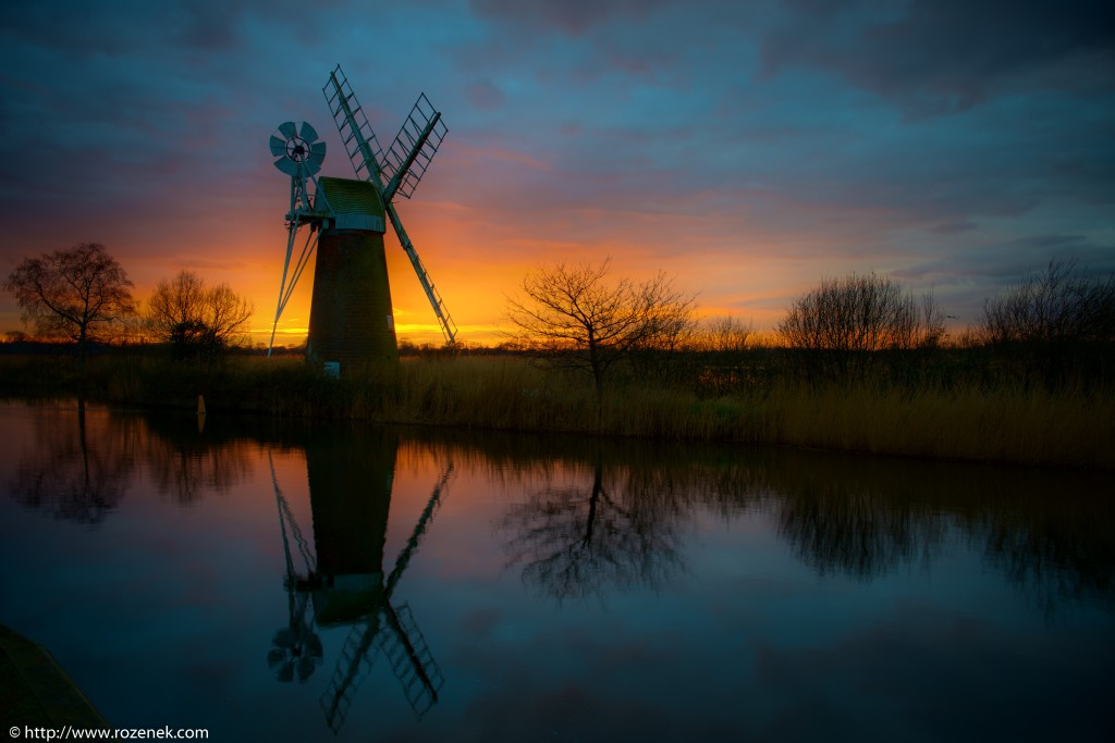 2014.03.04 - Turf Fen Mill at Sunset - 02 - full