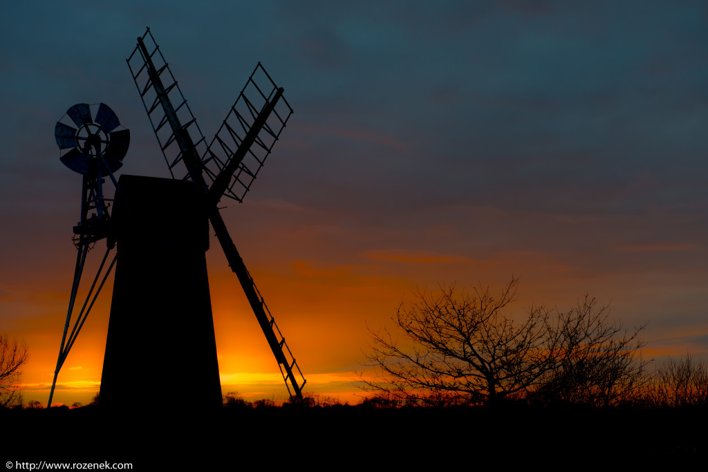 2014.03.04 - Turf Fen Mill at Sunset - 03 - full