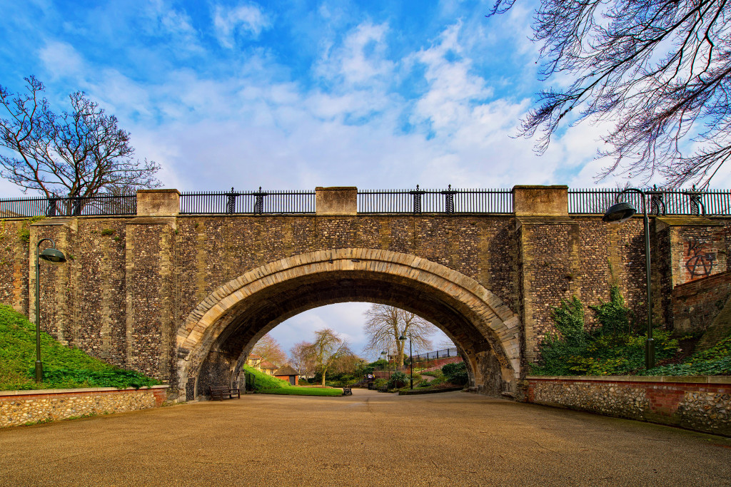 2014.03.01 - Norwich Castle Bridge - HDR
