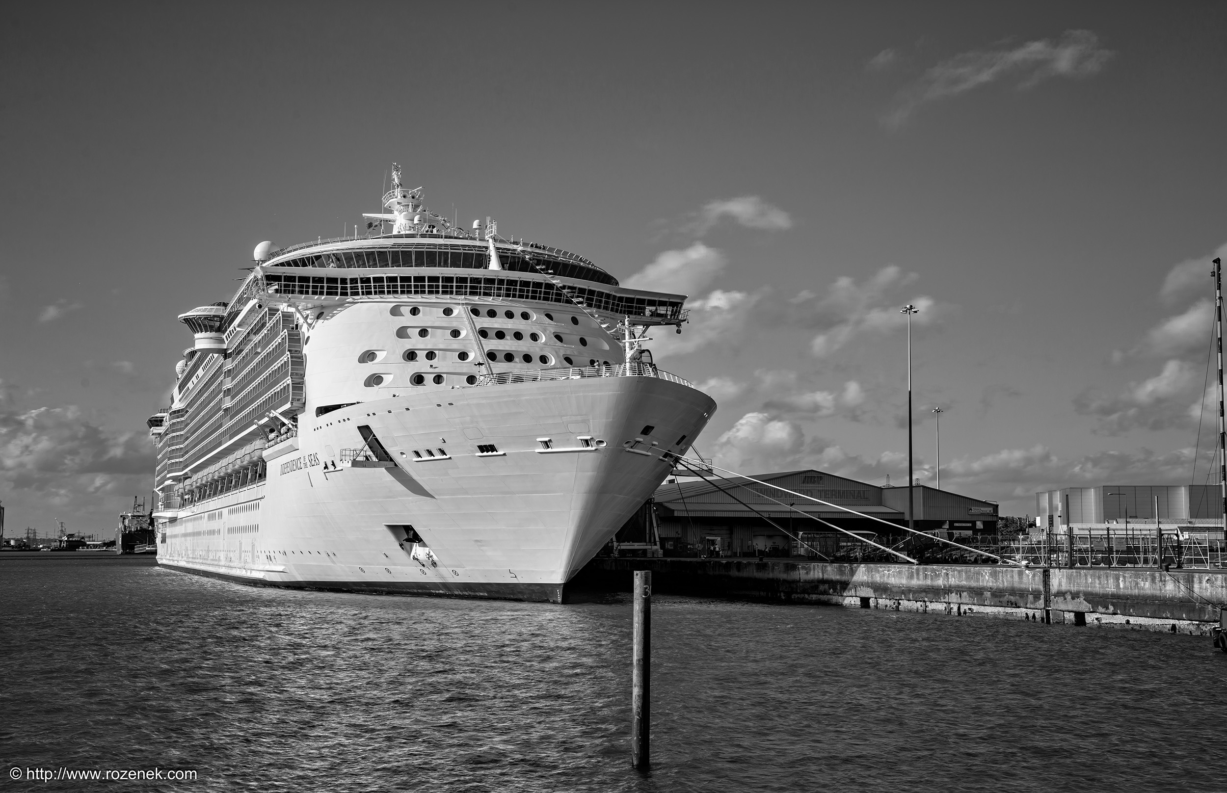MS Independence Of The Seas In Southampton Mayflower Park - Southampton cruise ship parking