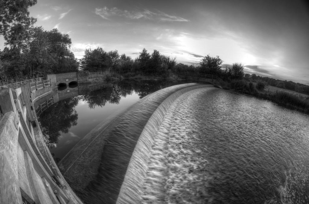 2012.08.12 - waterfall - bw