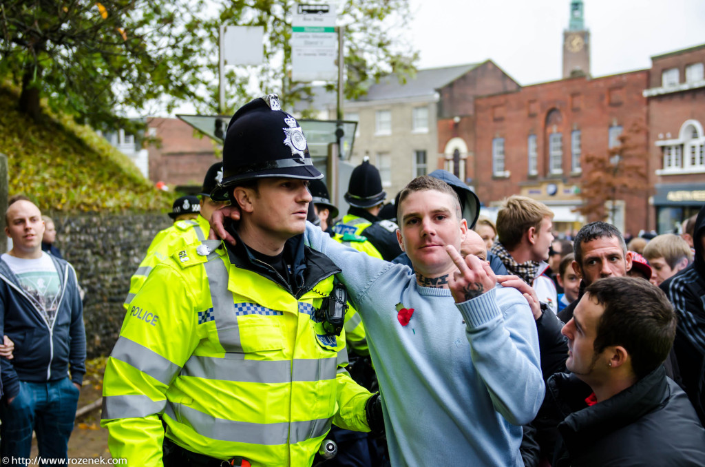 2012.11.10 - English Defence League - Protest in Norwich - 57