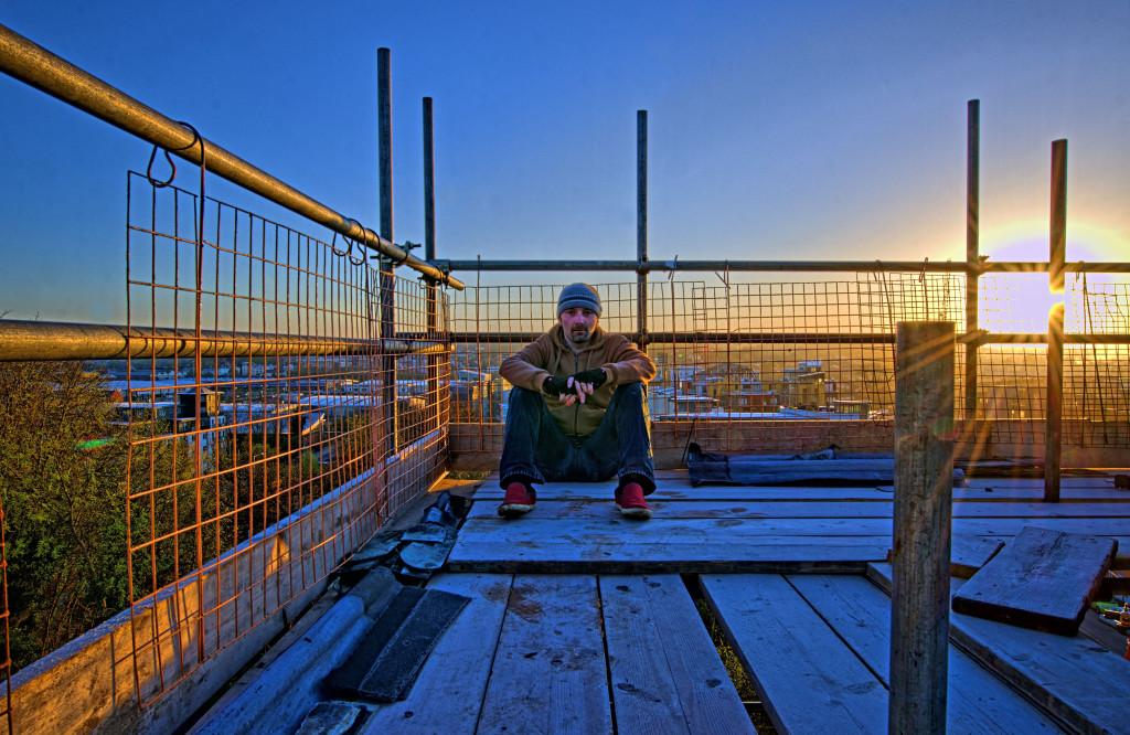 2013.04.28 - Sunrise on Scaffolding - HDR-01