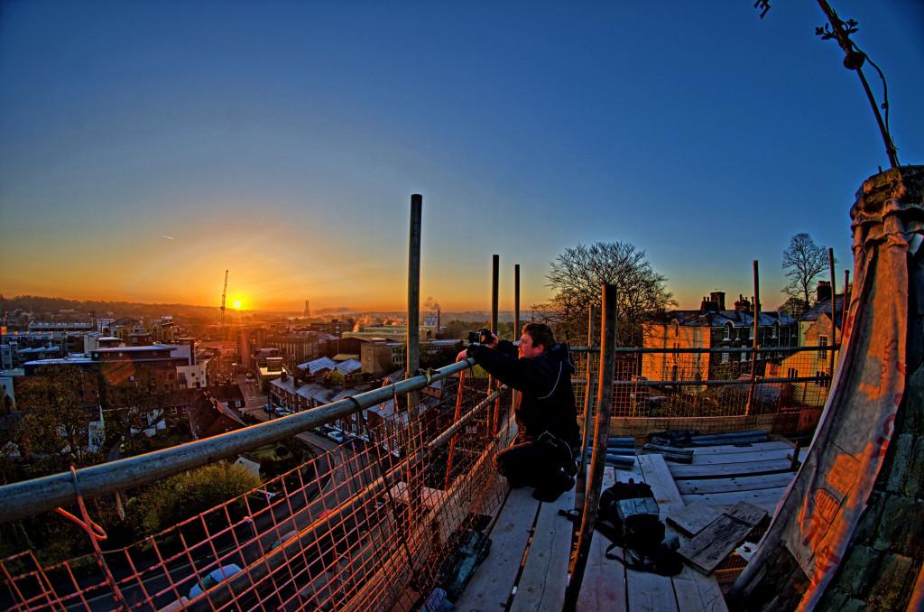 2013.04.28 - Sunrise on Scaffolding - HDR-02