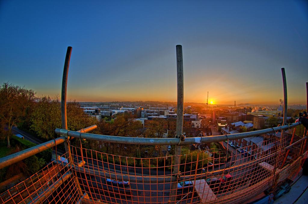 2013.04.28 - Sunrise on Scaffolding - HDR-04