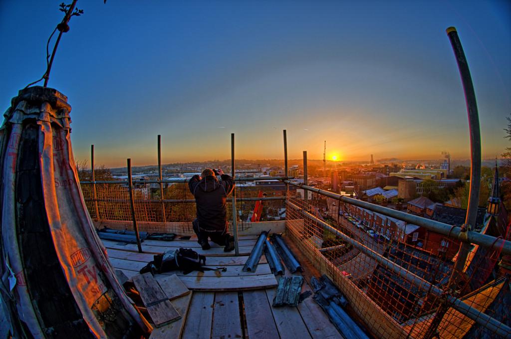 2013.04.28 - Sunrise on Scaffolding - HDR-05