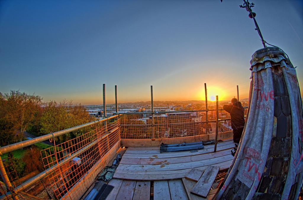 2013.04.28 - Sunrise on Scaffolding - HDR-09