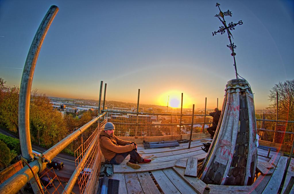 2013.04.28 - Sunrise on Scaffolding - HDR-11