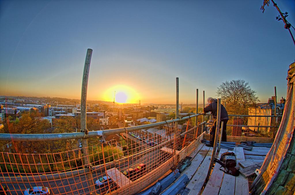 2013.04.28 - Sunrise on Scaffolding - HDR-12