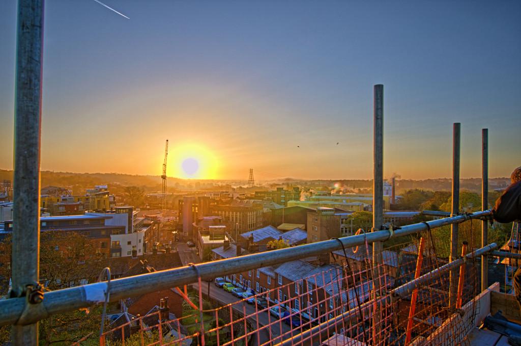 2013.04.28 - Sunrise on Scaffolding - HDR-13