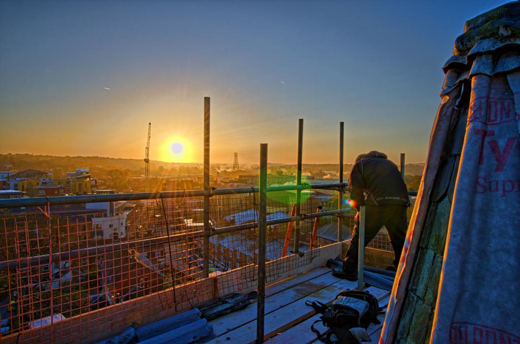 2013.04.28 - Sunrise on Scaffolding - HDR-16